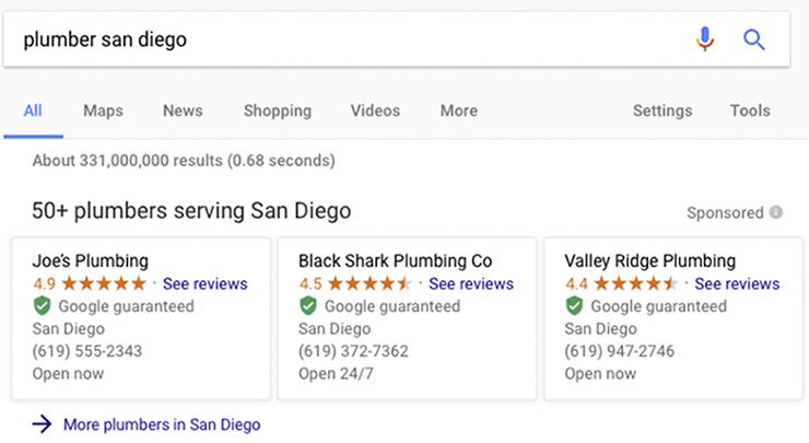 Local Service Ads Screenshot