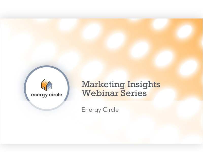 It Takes Lot Of Energy To Prepare For >> Webinar Series Learn Connect Energy Circle