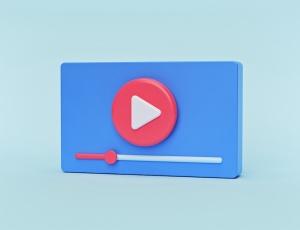 minimal video playback icon image