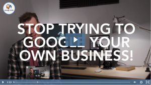 screencap of SEO Mistakes video with Jake VP in background