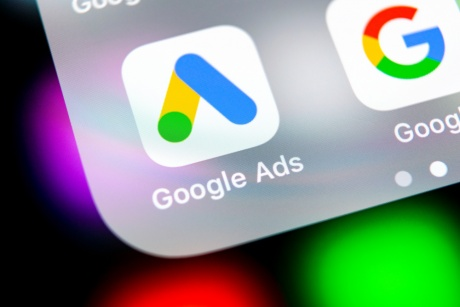 Google Ads App Image on Mobile Device