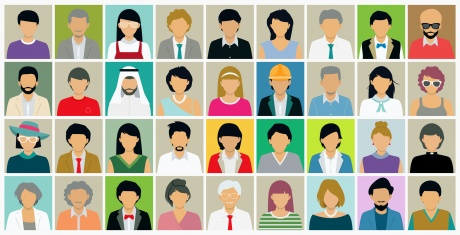 Concept Graphic of Different Personas or Demographics
