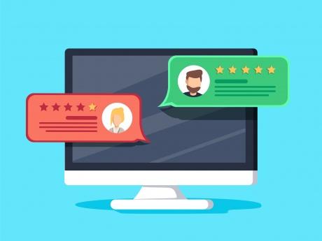 Online Reviews Concept Graphic