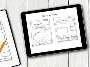 Website Diagram on Tablet