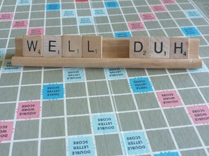 Well duh scrabble pieces