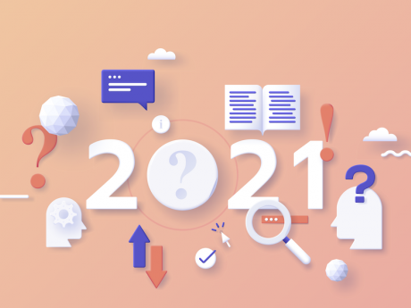 2021 year with icons depicting generic marketing channels