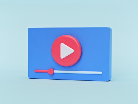 minimal video playback icon image